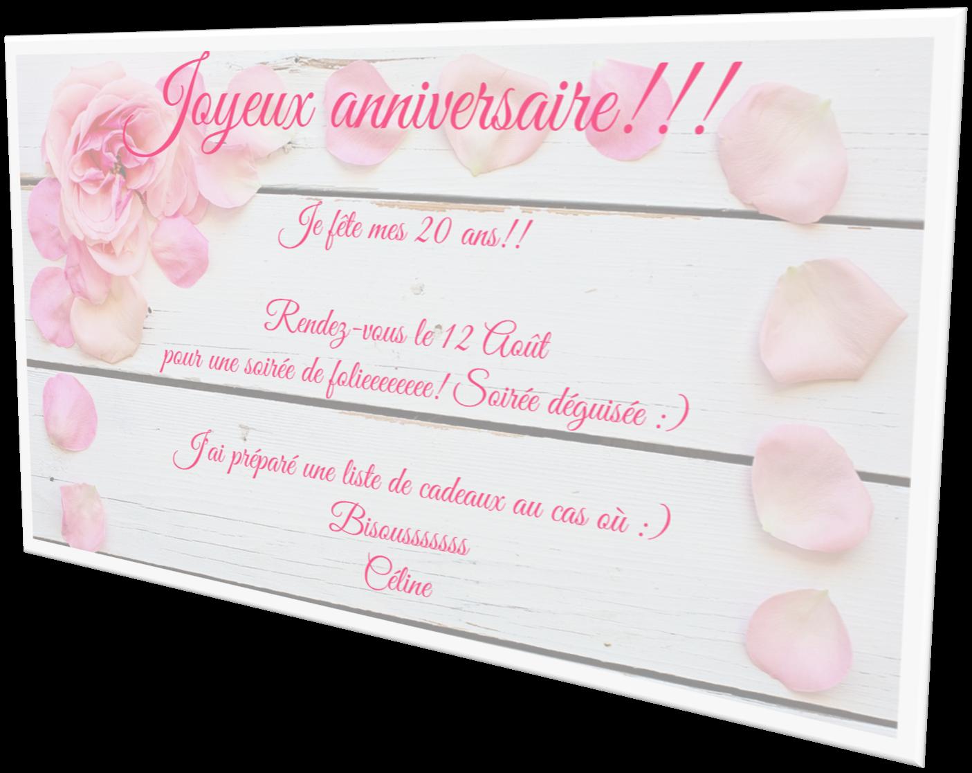 Carte-anniversaire-pétales-rose